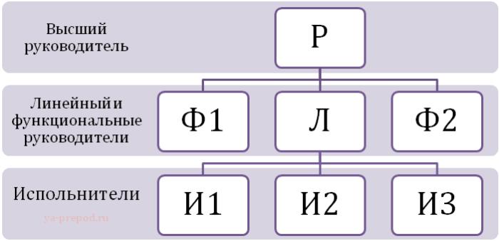 Схема линейно-функциональной структуры Лекция 7 часть 3