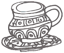 Food & Travel Illustration by Yaansoon   The Illustration Blog of a Nomadic Mediterranean Foodie   Pen and ink spot illustration of a North African teacup