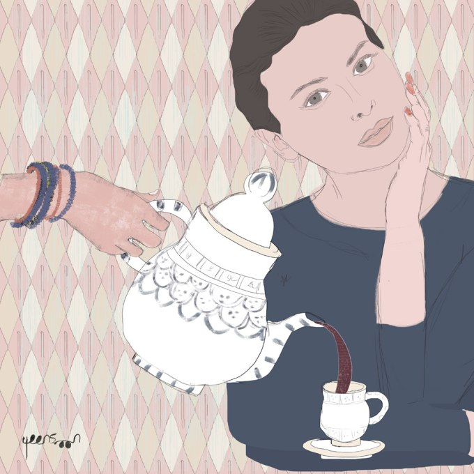 Cultural Travel Illustration: Tunisian Ceramics | Lifestyle illustration | By Yaansoon Illustration + Art