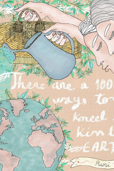 Hand-Lettering Travel Quote: Kiss the Earth