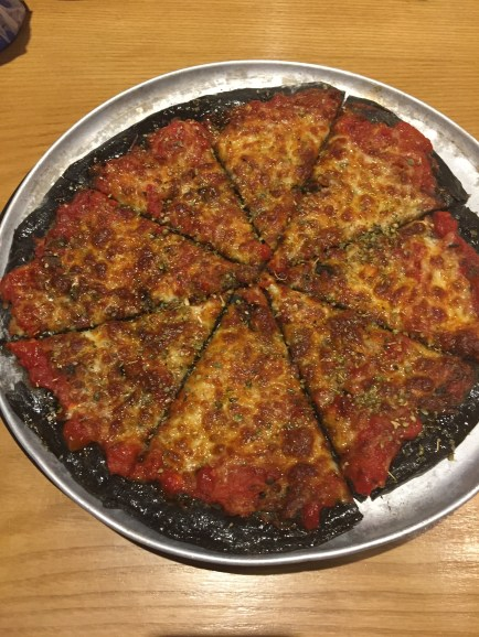 I had pizza and the crust was black