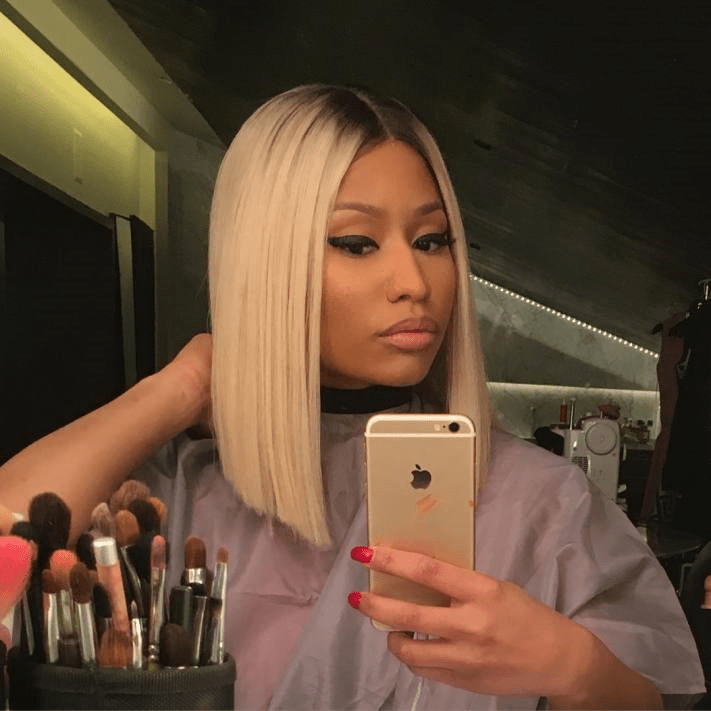 nicki minaj bob hair cut