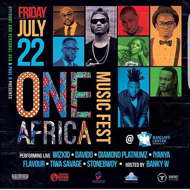 Stonebwoy, Davido & More To Perform At The One Africa Music Fest In America