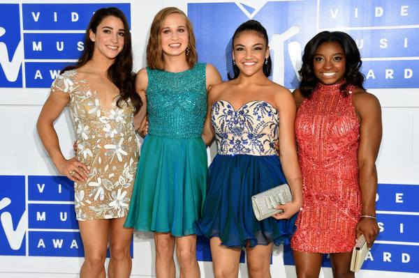Olympic Gymnasts Aly Raisman Madison Kocian Llaurie Hernandez and Simone Biles