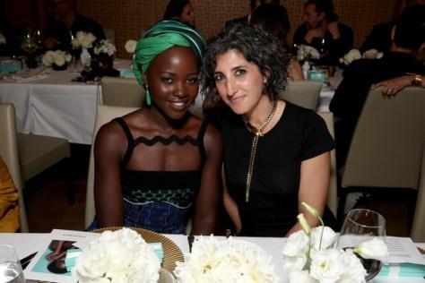 Lupita Nyongo and global creative director marketing Tiffany & CoToni Lakis