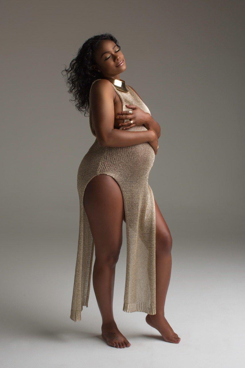 Nailed It! Check Out Fresh Prince of Bel-Air Star Tatyana Ali's Maternity Shoot - Yaa Somuah
