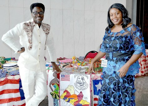 Event coordinator, Mr. Lexy Mojo Eyes and Kimma Wren take a moment to items and celebrate the success of the 1st Africa Fashion Business Summit.