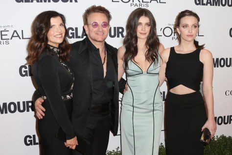 Bono with his wife Ali Hewson and daughters-Eve and Jordan Hewson