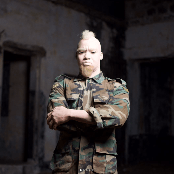 Chris Attoh Plays An Albino Soldier In The Movie 'Kintampo' – Peep The Trailer Starring Sika Osei, Adjetey Anang & More