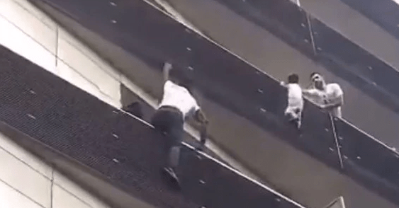 Malian 'Spiderman' – Mamoudou Gassama Climbs Four Storeys To Rescue Dangling Baby in Paris