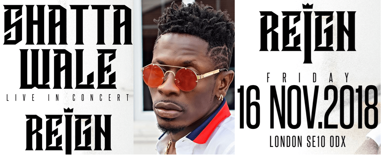 Shatta Wale Live In London This November
