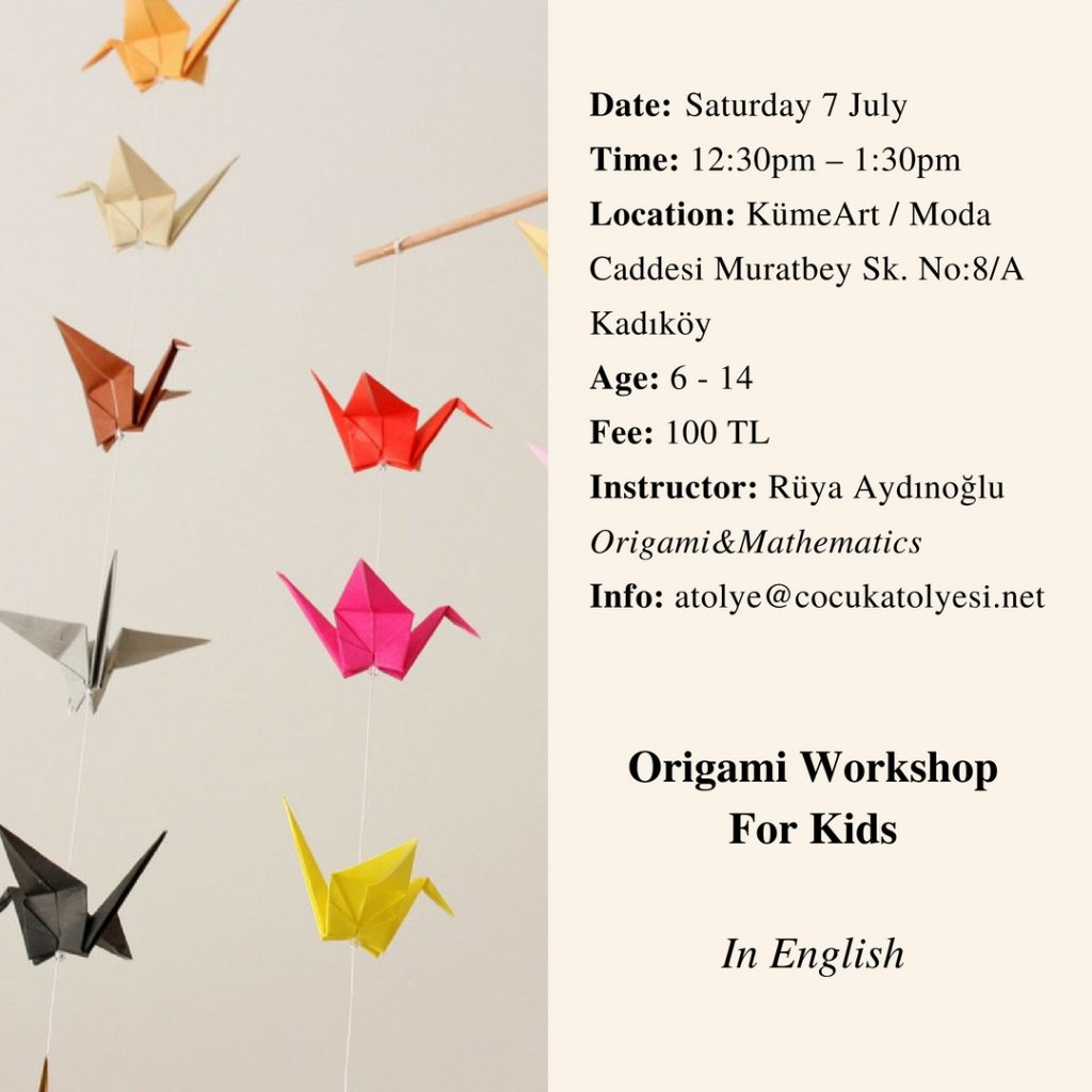 Origami Workshop For Kids English