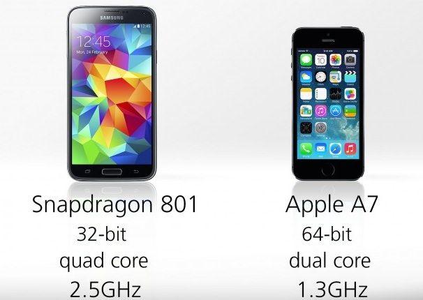 غالاكسي S5 مقابل فون 5S