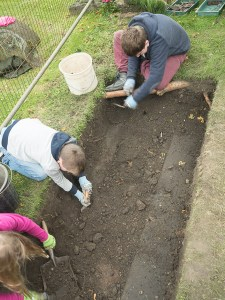 Uncovering a new gravestone