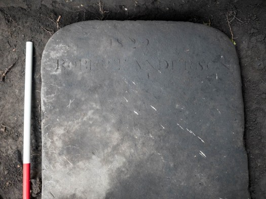 """The inscription reads """"1822 Robert Anderson &"""""""