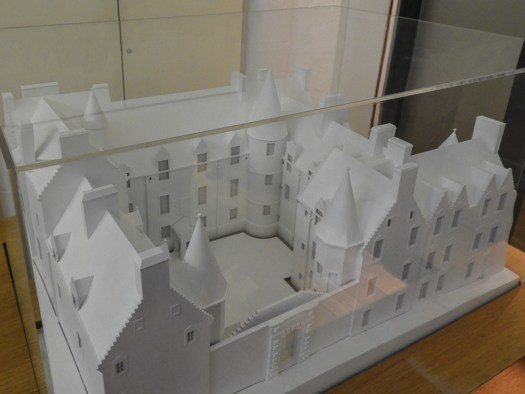 Model of Argyll's Lodging next to Stirling Castle