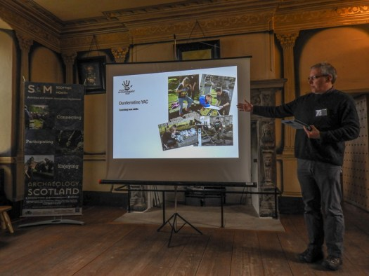 Mark talking about the YAC graveyard project at the launch