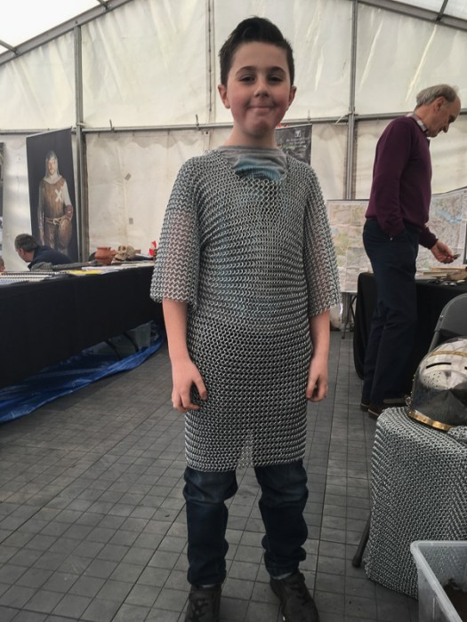 YAC member modelling chainmail