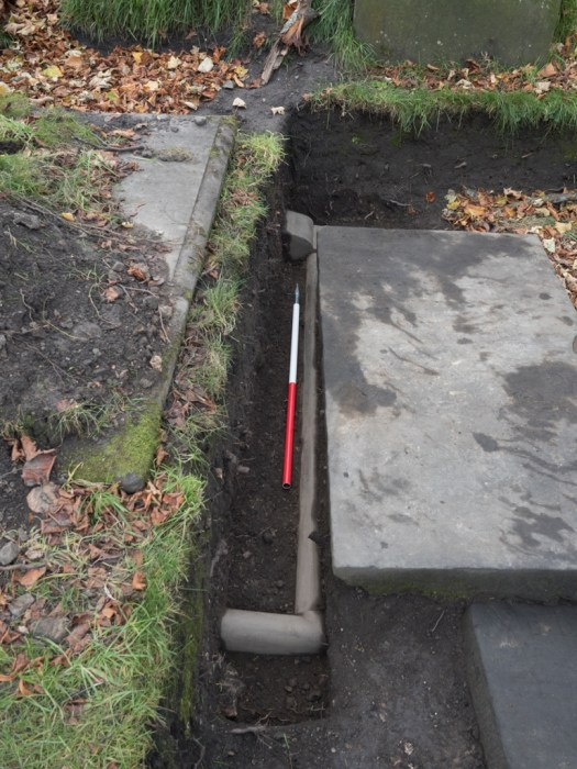 Low Headstone with Curb