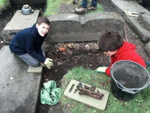 Look what we excavated (very carefully)