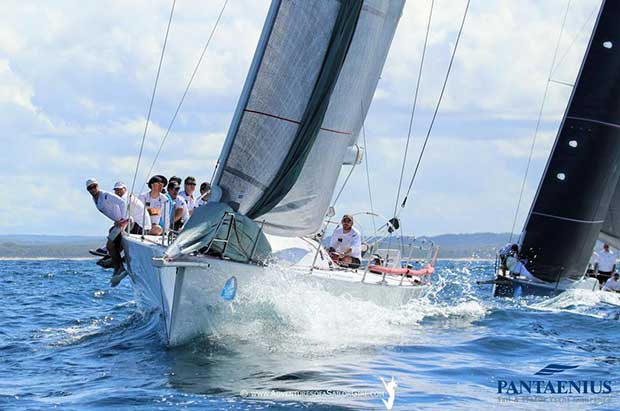 Into the mark rounding with Yeah Baby - Sail Port Stephens © Nic Douglass / www.AdventuresofaSailorGirl.com
