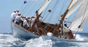 Classic Bermudian yawl, Carlo Falcone's 80ft Mariella - Antigua Sailing Week © Tim Wright / Photoaction.com http://www.photoaction.com