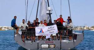 First arrival - Monohull line honours in the Antigua Bermuda Race for Volvo 70, Warrior © Tom Clarke