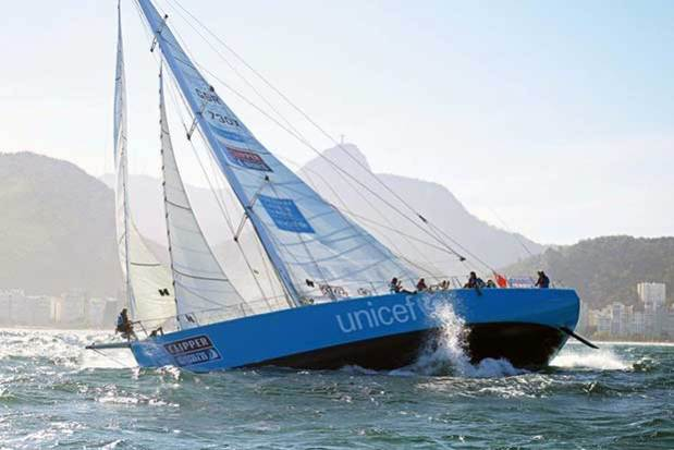 The Unicef team during the Clipper 2015-16 Race Clipper Ventures