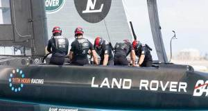 Land Rover BAR competed only on the final day of the fourth Practice Session in Bermuda Harry KH / Land Rover BAR
