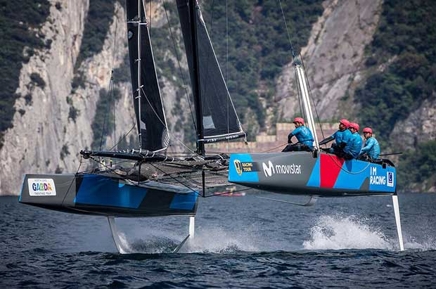 Iker Martinez's I'M Racing Movistar won today's first race - 2017 GC32 Racing Tour © Jesus Renedo / GC32 Racing Tour