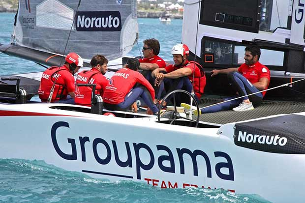 Franck Gammas and the Groupama Team France - Round Robin 2 - America's Cup 2017, May 31, 2017 Great Sound Bermuda © Richard Gladwell www.photosport.co.nz