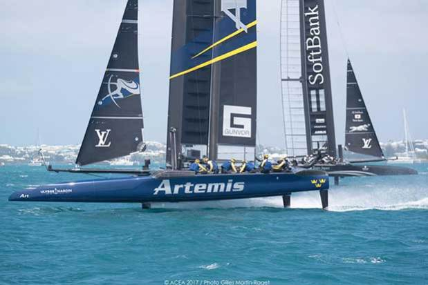 Artemis Racing and SoftBank Team Japan - 35th America's Cup 2017 Gilles Martin Raget http://www.martin-raget.com/