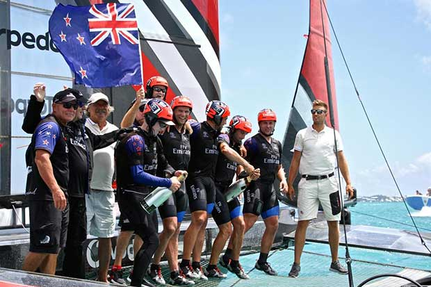Emirates Team New Zealand - Match, Day 5 - Finish - Race 9 - 35th America's Cup - Bermuda June 26, 2017 © Richard Gladwell www.photosport.co.nz
