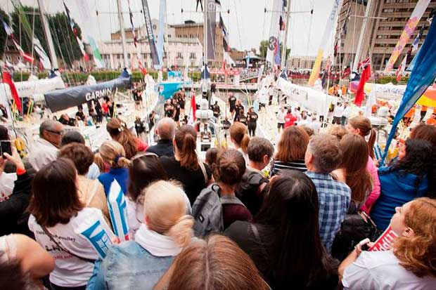 Clipper Race start © Clipper Ventures