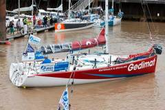 First stage started this Sunday afternoon from the Gironde estuary by Bordeaux. - La Solitaire Urgo Le Figaro 2017 © Alexis Courcoux