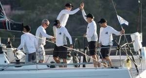 Andrews and his Locomotive team enjoying the moment in winning Division 5 - 2017 Transpac © Betsy Crowfoot/Ultimate Sailing