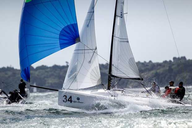 Fast downwind action in the J/70 Fleet – J/70 UK National Championship © Paul Wyeth