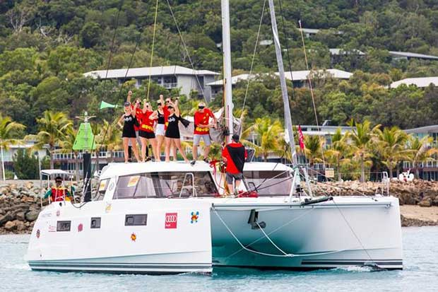 "The crew of the catamaran Robin was outstanding when it came to the ""Best Themed"" category of the Prix d'Elegance at Audi Hamilton Island Race Week 2016. Andrea Francolini http://www.afrancolini.com/"