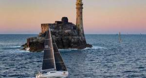 Winning the new prize for Mixed Two-Handed yacht overall: Rob Craigie and Deb Fish on the Sun Fast 3600 Bellino – Rolex Fastnet Race © Rolex / Carlo Borlenghi http://www.carloborlenghi.net