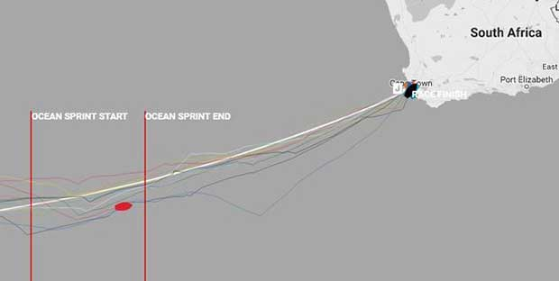 Clipper Race Day 20 - sailing