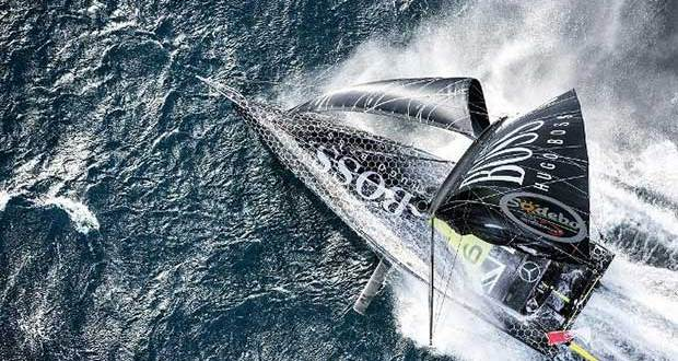 Alex Thomson (Hugo Boss) – powered by Doyle to second place and two sailing records in the 2016 Vendée Globe © Cleo Barnham Hugo Boss