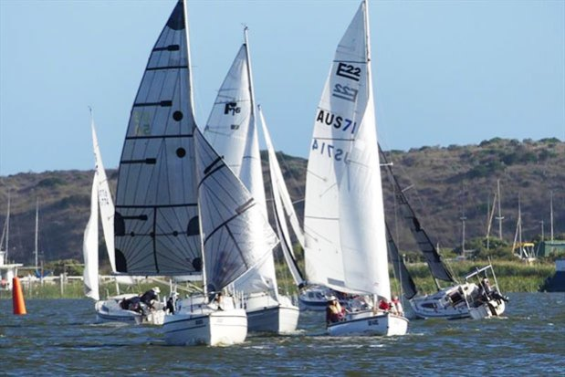 No spinnakers were allowed in tonight's tune-up race – Goolwa Regatta Week - photo © Chris Caffin