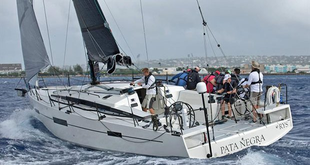 Pata Negra from the UK broke the 50ft and under record - Mount Gay Round Barbados Race 2018 - photo © Peter Marshall / BSW