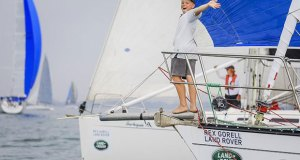 Geelong sailor Nick Lee during the Festival of Sails © Salty Dingo