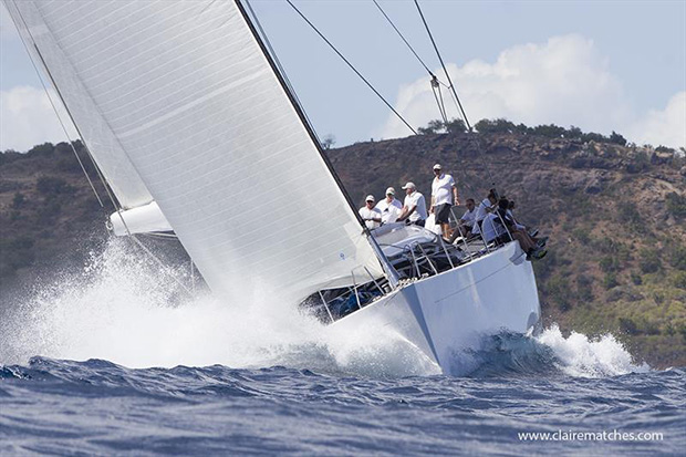 The 112ft German Frers sloop Spiip - Superyacht Challenge Antigua 2018 - photo © Claire Matches / www.clairematches.com