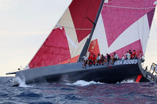 U.S. Merchant Marine Academy's Volvo 70 sponsored by the Murray family took line honours and set a new race record in the inaugural Antigua Bermuda Race © Tom Clarke