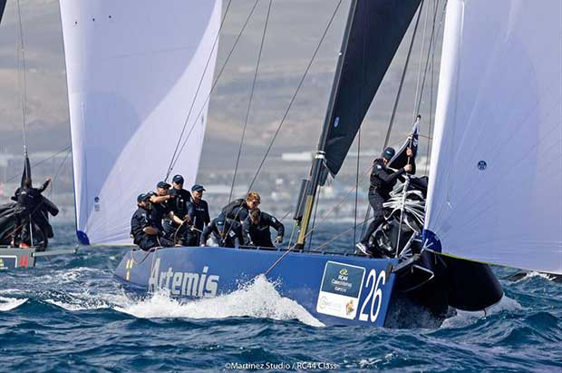 Artemis Racing put in a strong start with new tactician Andy Horton - RC44 Calero Marinas Cup 2018 - photo © www.MartinezStudio.es