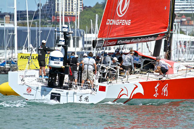 Mark rounding - Dongfeng - Volvo Ocean Race - Auckland Stopover In Port Race, Auckland, March 10, - photo © Richard Gladwell