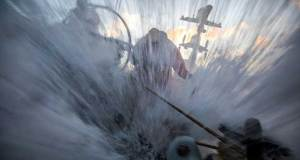 Volvo Ocean Race Leg 7 from Auckland to Itajai, day 6 on board Sun Hung Kai / Scallywag. Mainsheet winch with water flowing all around. - photo © Konrad Frost / Volvo Ocean Race