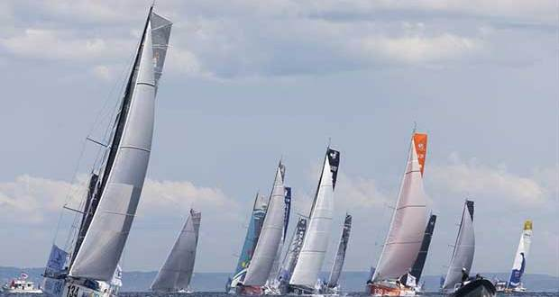 Shortly after the start of the Normandy Channel Race 2018 - photo © Jean-Marie Liot